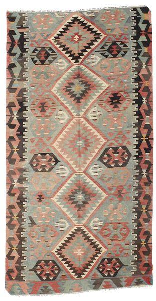 Kilim Pół -Antyk Tureckie Dywan 162X310 Orientalny Tkany Ręcznie Brązowy/Ciemnobrązowy (Wełna, Turcja)