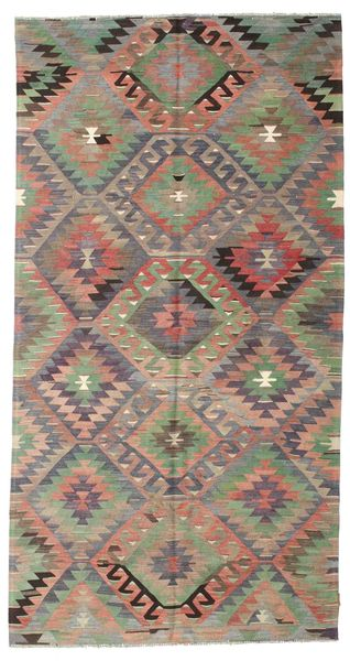 Kilim Semi Antique Turkish Rug 163X310 Authentic  Oriental Handwoven Light Brown/Light Grey (Wool, Turkey)