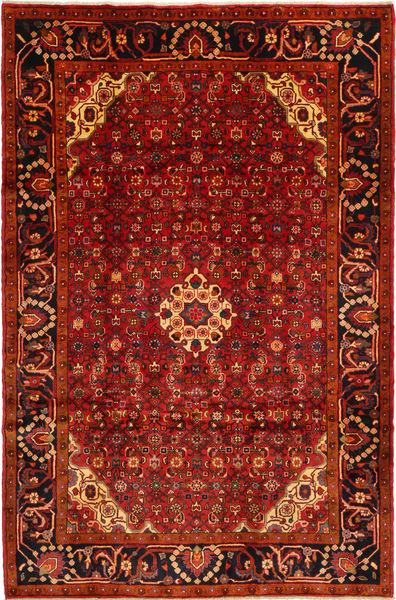 Hosseinabad Covor 205X310 Orientale Lucrat Manual Roșu-Închis/Ruginiu (Lână, Persia/Iran)