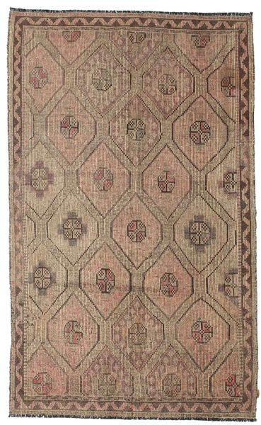 Kelim Semiantik Turkisk Matta 185X302 Äkta Orientalisk Handvävd Ljusbrun/Brun (Ull, Turkiet)