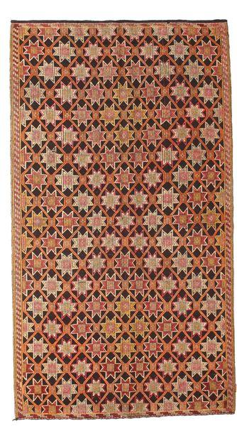 Kilim Semi Antique Turkish Rug 166X302 Authentic  Oriental Handwoven Light Brown/Dark Brown (Wool, Turkey)