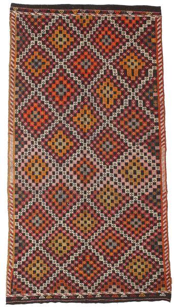 Kilim Semi Antique Turkish Rug 171X310 Authentic  Oriental Handwoven Dark Red/Dark Brown (Wool, Turkey)