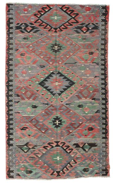 Kilim Semi Antique Turkish Rug 178X301 Authentic  Oriental Handwoven Dark Grey/Light Brown (Wool, Turkey)