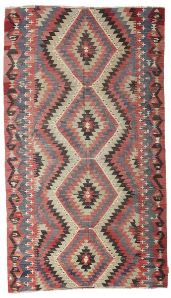 Kilim Semi Antique Turkish Rug 165X289 Authentic  Oriental Handwoven Purple/Light Brown (Wool, Turkey)