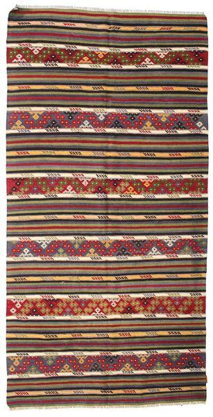 Kilim Semi Antique Turkish Rug 162X323 Authentic  Oriental Handwoven Dark Red/Dark Brown (Wool, Turkey)