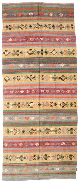 Kilim Pół -Antyk Tureckie Dywan 163X387 Orientalny Tkany Ręcznie Chodnik Jasnobrązowy/Zielony/Oliwkowy (Wełna, Turcja)