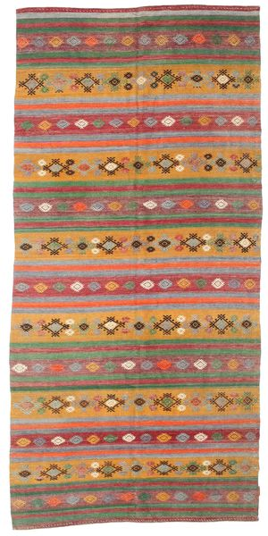 Kilim Semi Antique Turkish Rug 168X351 Authentic  Oriental Handwoven Light Brown/Brown (Wool, Turkey)