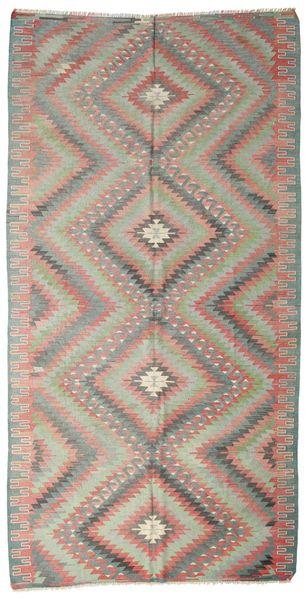 Kilim Semi Antique Turkish Rug 174X341 Authentic  Oriental Handwoven Light Grey/Light Pink (Wool, Turkey)