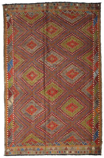 Kilim Semi Antique Turkish Rug 205X317 Authentic  Oriental Handwoven Dark Red/Light Brown (Wool, Turkey)