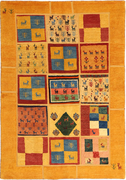 Gabbeh Persisk Matta 136X200 Äkta Modern Handknuten Orange/Ljusbrun (Ull, Persien/Iran)