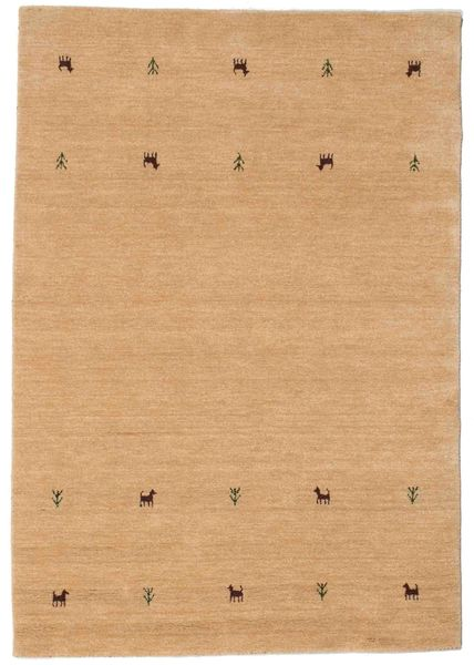 Gabbeh Loom Two Lines - Beige Rug 140X200 Modern Light Brown (Wool, India)