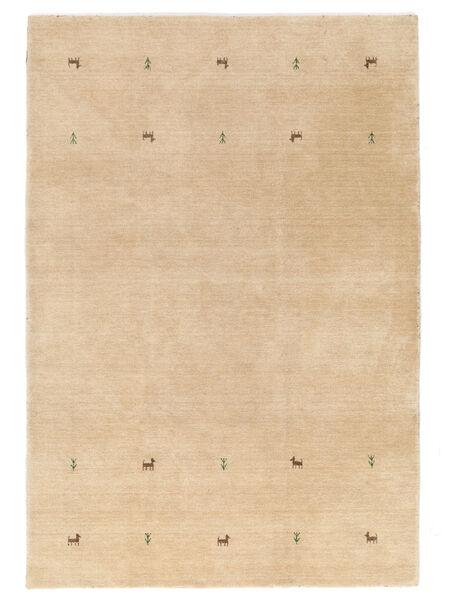 Gabbeh Loom Two Lines - Beige Matto 140X200 Moderni Vaaleanruskea (Villa, Intia)