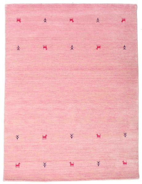 Gabbeh Loom Two Lines - Różowy Dywan 140X200 Nowoczesny Jasnoróżowy (Wełna, Indie)