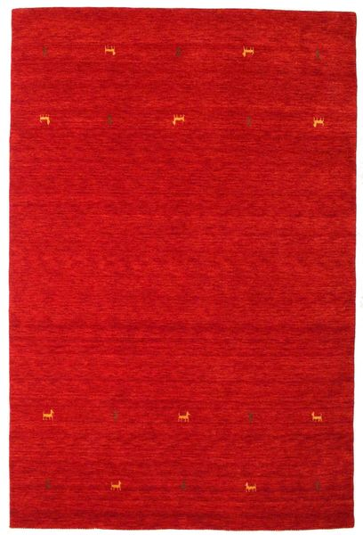 Gabbeh Loom Two Lines - Rust Red Rug 190X290 Modern Crimson Red (Wool, India)