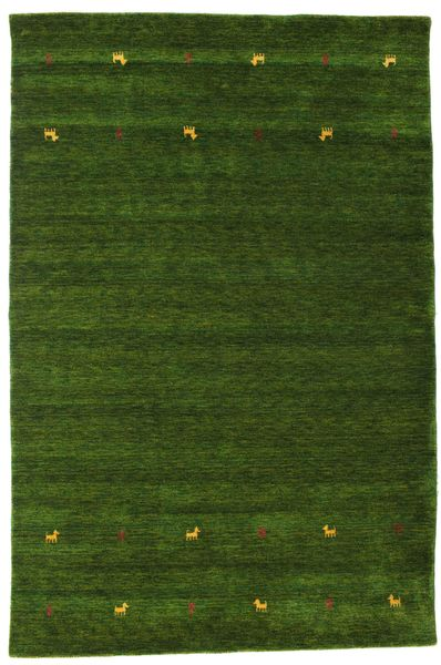 Gabbeh Loom Two Lines - Green Rug 190X290 Modern Dark Green (Wool, India)