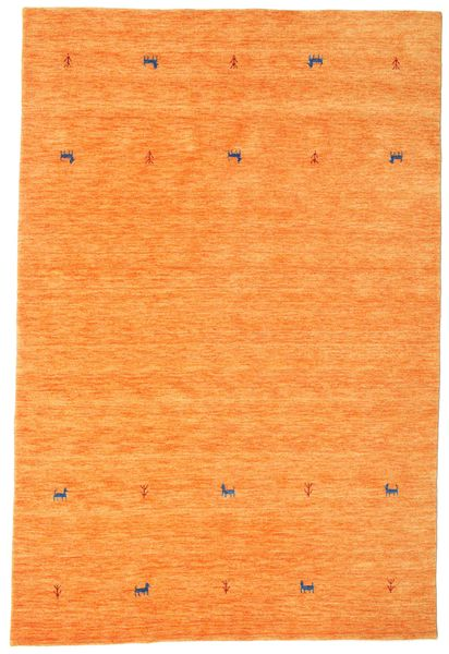 Gabbeh Loom Two Lines - Orange Rug 190X290 Modern Orange (Wool, India)