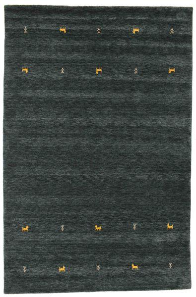 Gabbeh Loom Two Lines - Dark Grey/Green Rug 190X290 Modern Dark Turquoise   (Wool, India)