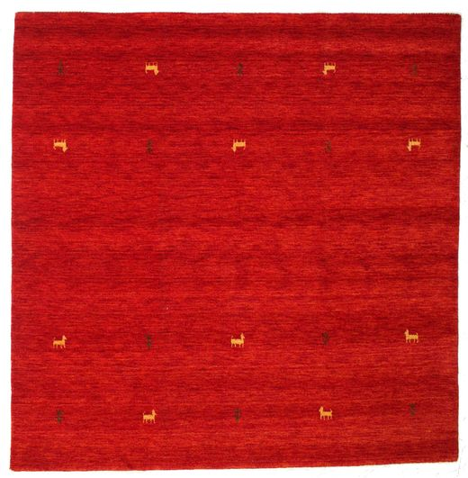 Gabbeh loom Two Lines - Rust_Red-matto CVD15013