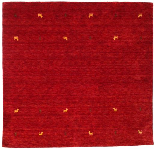 Gabbeh Loom Two Lines - Red Rug 200X200 Modern Square Crimson Red (Wool, India)