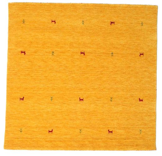 Gabbeh Loom Two Lines - Yellow Rug 200X200 Modern Square Orange/White/Creme (Wool, India)