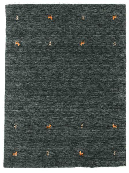 Tapis Gabbeh loom Two Lines - Gris foncé / Vert CVD15089
