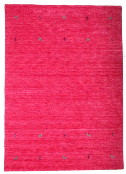 Gabbeh Loom Two Lines - Cerise Rug 160X230 Modern Pink (Wool, India)