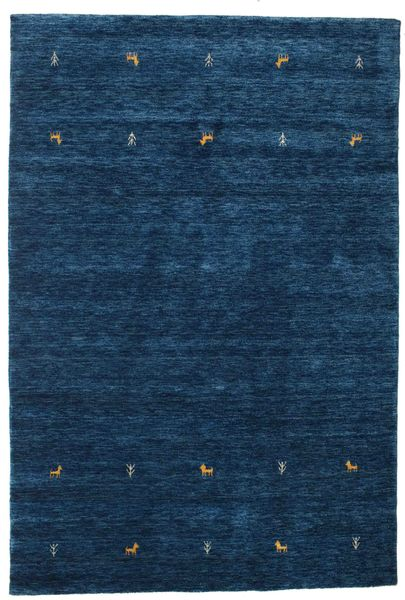 Gabbeh Loom Two Lines - Dark Blue Rug 160X230 Modern Dark Blue (Wool, India)