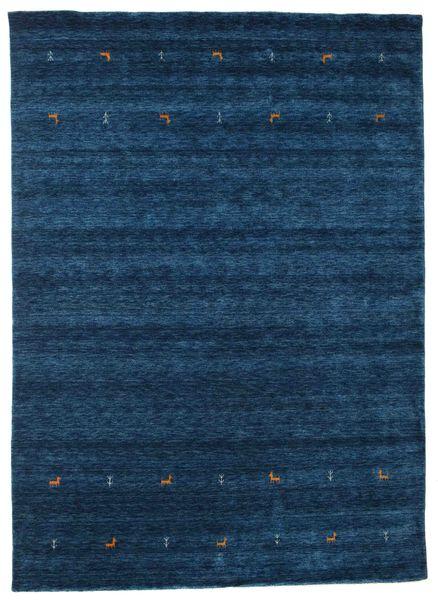 Gabbeh Loom Two Lines - Dark Blue Rug 240X340 Modern Dark Blue (Wool, India)