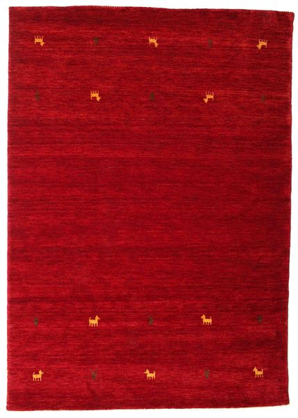 Gabbeh Loom Two Lines - Red Rug 160X230 Modern Crimson Red/Dark Red (Wool, India)