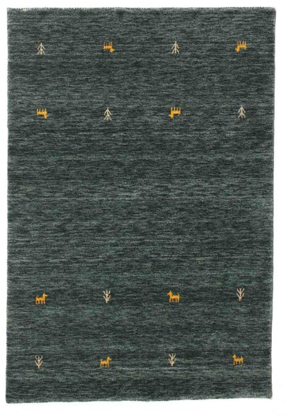 Alfombra Gabbeh loom Two Lines - Gris Oscuro / Verde CVD15091