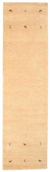 Gabbeh Loom Two Lines - Beige Matto 80X300 Moderni Käytävämatto Tummanbeige/Vaaleanruskea/Vaaleanpunainen (Villa, Intia)