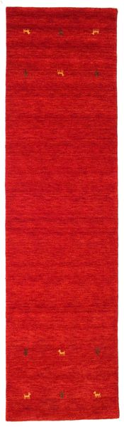 Gabbeh loom Two Lines - Rust_Red matta CVD15006