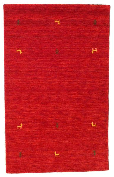 Gabbeh Loom Two Lines - Rust Red Rug 100X160 Modern Crimson Red (Wool, India)