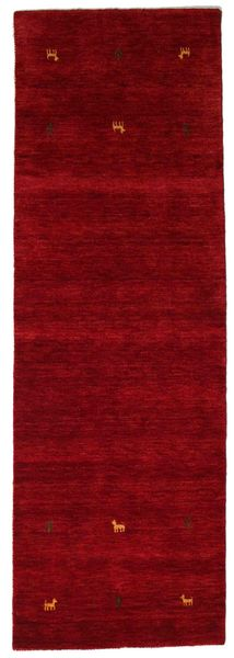 Gabbeh Loom Two Lines - Red Rug 80X250 Modern Hallway Runner  Dark Red (Wool, India)