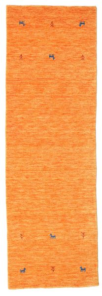 Gabbeh Loom Two Lines - Oransje Teppe 80X250 Moderne Teppeløpere Orange (Ull, India)