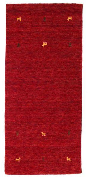 Gabbeh Loom Two Lines - Punainen Matto 80X200 Moderni Käytävämatto Punainen/Tummanpunainen (Villa, Intia)