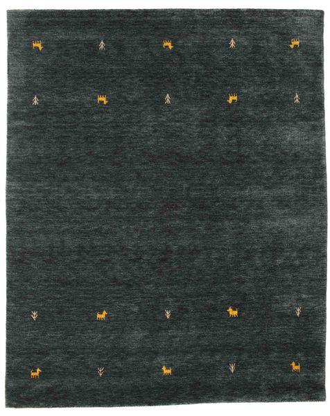 Gabbeh Loom Two Lines - Sötétszürke/Zöld Szőnyeg 190X240 Modern Sötét Turquoise (Gyapjú, India)