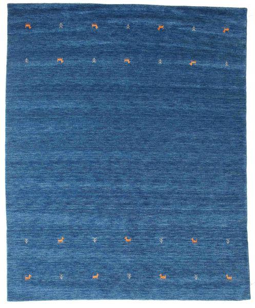 Gabbeh Loom Two Lines - Niebieski Dywan 240X290 Nowoczesny Ciemnoniebieski/Niebieski (Wełna, Indie)