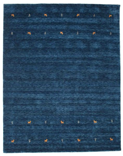 Gabbeh loom Two Lines - Donkerblauw tapijt CVD14980