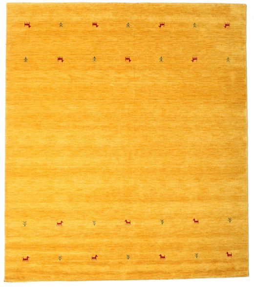 Alfombra Gabbeh loom Two Lines - Amarillo CVD14992