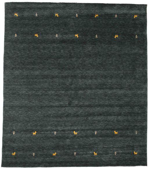 Gabbeh Loom Two Lines - Ciemnoszary/Zielony Dywan 240X290 Nowoczesny Ciemny Turkus (Wełna, Indie)