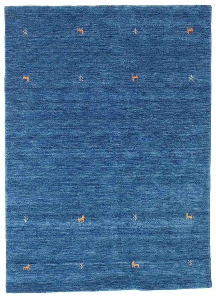 Gabbeh Loom Two Lines - Modrá Koberec 160X230 Moderní Tmavě Modrý/Modrá (Vlna, Indie)