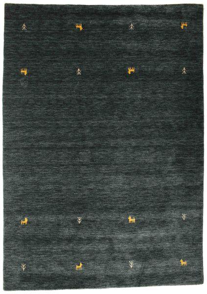 Gabbeh Loom Two Lines - Tummanharmaa/Vihreä Matto 160X230 Moderni Tummanharmaa/Tumma Turkoosi (Villa, Intia)