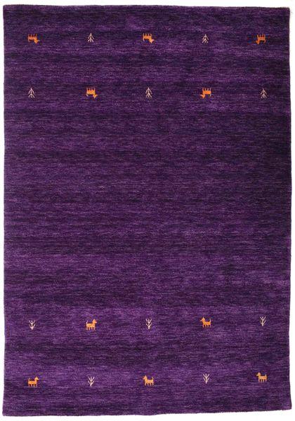 Gabbeh Loom Two Lines - Violetti Matto 160X230 Moderni Tummanvioletti (Villa, Intia)