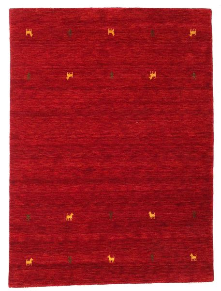 Gabbeh Loom Two Lines - Rood Vloerkleed 140X200 Modern Rood/Donkerrood (Wol, India)