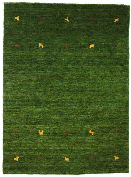 Gabbeh Loom Two Lines - Vert Tapis 140X200 Moderne Vert Foncé (Laine, Inde)