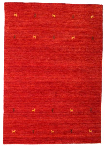 Gabbeh Loom Two Lines - Rust Red Rug 140X200 Modern Rust Red (Wool, India)