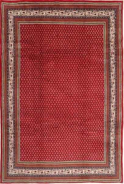 Sarough Mir Matto 211X315 Itämainen Käsinsolmittu Tummanpunainen/Punainen (Villa, Persia/Iran)