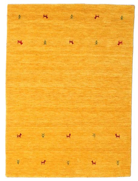 Gabbeh Loom Two Lines - Yellow Rug 140X200 Modern Orange (Wool, India)