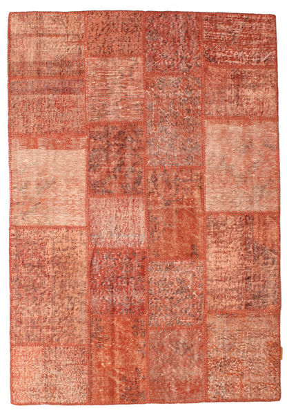 Patchwork Rug 138X201 Authentic  Modern Handknotted Light Brown/Light Pink (Wool, Turkey)